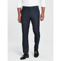V by Very Tailored Trouser, Navy, Size 40, Length Regular, Men