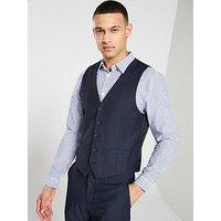 V by Very Slim Waistcoat, Navy, Size Chest 50, Length Regular, Men