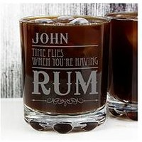Personalised Time Flies When You're Having Rum Tumbler, One Colour, Women