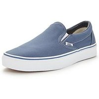 Vans Classic Slip-On Trainers, Navy, Size 9, Women