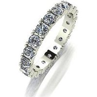 Moissanite 9ct Gold 2 Carat Full Eternity Ring, Yellow Gold, Size I, Women