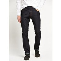 V by Very Slim Fit Denim Jeans, Indigo, Size 34, Inside Leg Short, Men