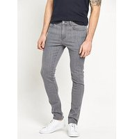 V by Very Skinny Fit Mens Jeans, Grey, Size 40, Inside Leg Short, Men