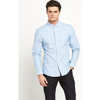 V by Very Long Sleeve Oxford Shirt, Blue, Size S, Men