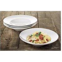 Waterside Set Of 4 Large Rimmed Pasta Bowls