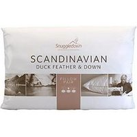 Product photograph showing Snuggledown Of Norway Scandinavian Duck Feather And Down Pillow Pair
