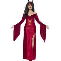 Curves Devil Costume with Horns - Adults Plus Size Costume, One Colour, Size L, Women