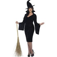 Curves Witch & Hat - Adults Plus Size Costume, One Colour, Size Xl, Women