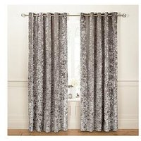 Luxe Collection Luxury Crushed Velvet Lined Eyelet Curtains