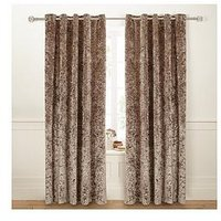 680cdb13a9 Luxe Collection Luxury Crushed Velvet Lined Eyelet Curtains