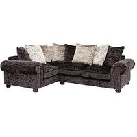 Laurence Llewelyn-Bowen Scarpa Left-Hand Double Arm Fabric Corner Group Sofa