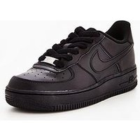 Nike Air Force 1 Childrens Trainer, Black, Size 10