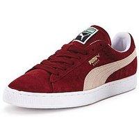Puma Suede Classic + Trainers, Dark Red/White, Size 11, Women