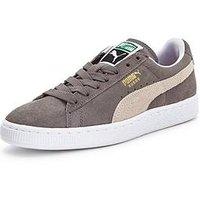 Puma Suede Classic+, Grey/White, Size 10, Women