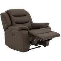 Product photograph showing Rothbury Luxury Faux Leather Manual Recliner Armchair