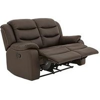 Product photograph showing Rothbury Luxury Faux Leather 2-seater Manual Recliner Sofa