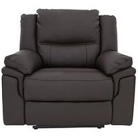 Product photograph showing Albion Luxury Faux Leather Manual Recliner Armchair