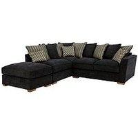 Modena Left-Hand Fabric Corner Chaise Sofa