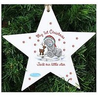 Product photograph showing Me To You Personalised Me To You 1st Christmas Star Decoration