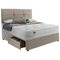 Product photograph showing Silentnight Penny Eco 1200 Pocket Divan Bed With Storage Options - Firm
