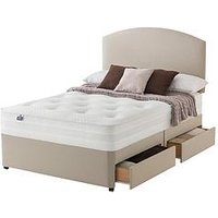 Product photograph showing Silentnight Mirapocket Penny 1200 Deluxe Tufted Divan With Storage Options