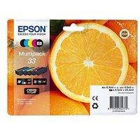 Epson 33 Claria Multipack Ink Oranges Premium Black Photo Black Cyan Magenta Yellow Premium Ink