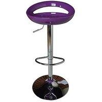 Avanti Bar Stool - Purple And Chrome