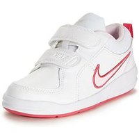 Nike Pico 4 Childrens Trainer, White/Pink, Size 1