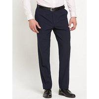 Skopes Skopes Regular Fit Darwin Trouser - Navy , Navy, Size 32, Inside Leg Long, Men
