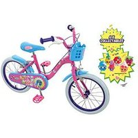 Shopkins 16 Inch Bike With Basket &Amp; Collectibles