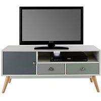 Product photograph showing Orla Retro Tv Unit - Fits Up To 50 Inch Tv