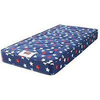 Product photograph showing Airsprung Kids Stars And Butterflies Single Mattress 90 Cm