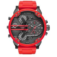 Diesel Chief Black and Red IP Mens Watch, One Colour, Men