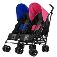 Obaby Apollo Twin Stroller, Pink/Blue