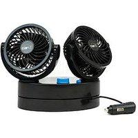 Streetwize Accessories Twin Oscillating Car Fan