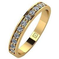 Moissanite 9ct Gold 33 Points Eternity Ring, White Gold, Size T, Women