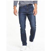 V by Very Slim Fit Denim Jean, Dark Vintage, Size 32, Inside Leg Long, Men