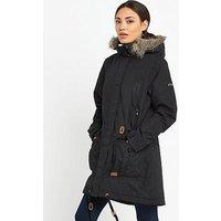 Trespass Dolly Parka Jacket , Black, Size 3Xl, Women