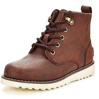 UGG CHAPMAN LACE BOOT, Brown, Size 11 Younger