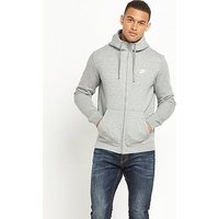 Nike Nike Sportswear Club Fleece Full Zip Hoody, Dark Grey Heather, Size S, Men