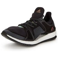 adidas Pure Boost X TR, Black/White, Size 4, Women