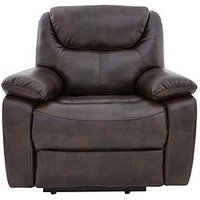 Parton Luxury Faux Leather Manual Recliner Armchair