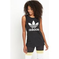 adidas Originals Loose Tank - Black, Black, Size 12, Women