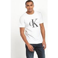 Calvin Klein Jeans Re Issue Logo T Shirt, White, Size 2Xl, Men