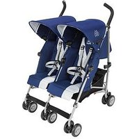 Maclaren Twin Triumph Pushchair, Black/Charcoal
