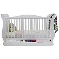 BabyStyle Hollie Sleigh Cot Bed - White , One Colour