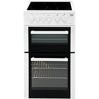 Beko Bdc5422Aw 50Cm Electric Cooker With Connection - White