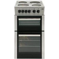 Beko Bd533As 50Cm Single Fan Oven Electric Cooker With Connection - Silver