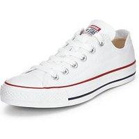 Converse Chuck Taylor All Star Ox Plimsolls - White, White, Size 7, Women