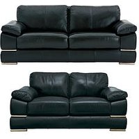 Product photograph showing Primo Italian Leather 3 Seater 2 Seater Sofa Set Buy And Save